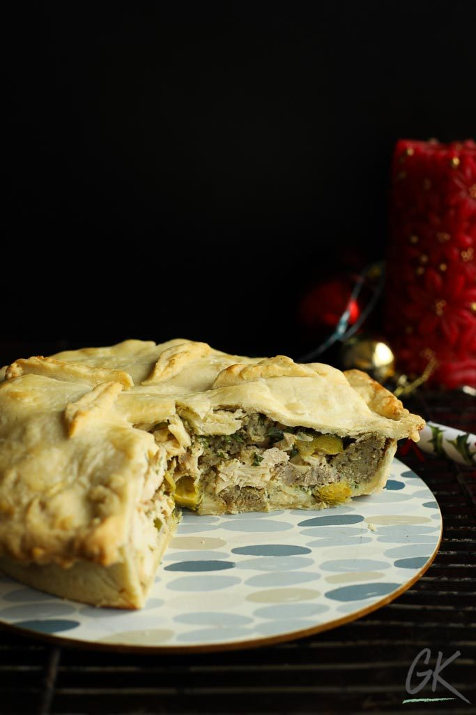 boxing day pie sliced