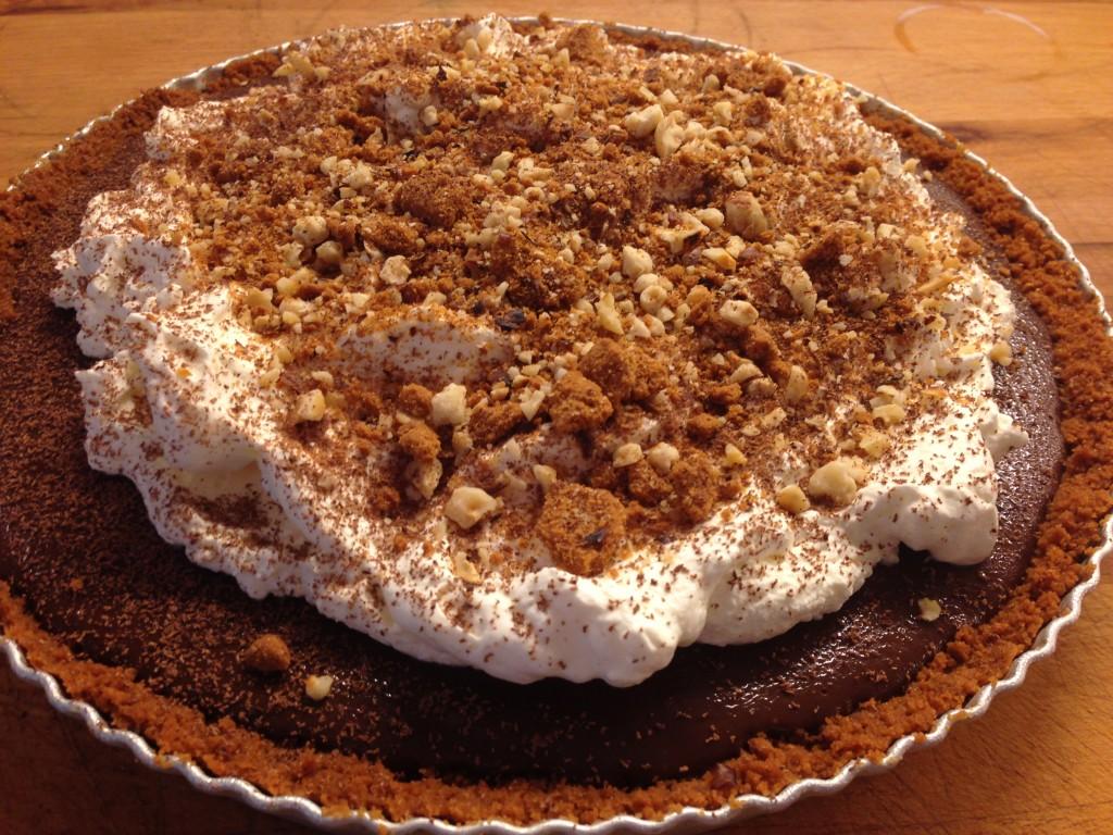 easy chocolate tart in the tin