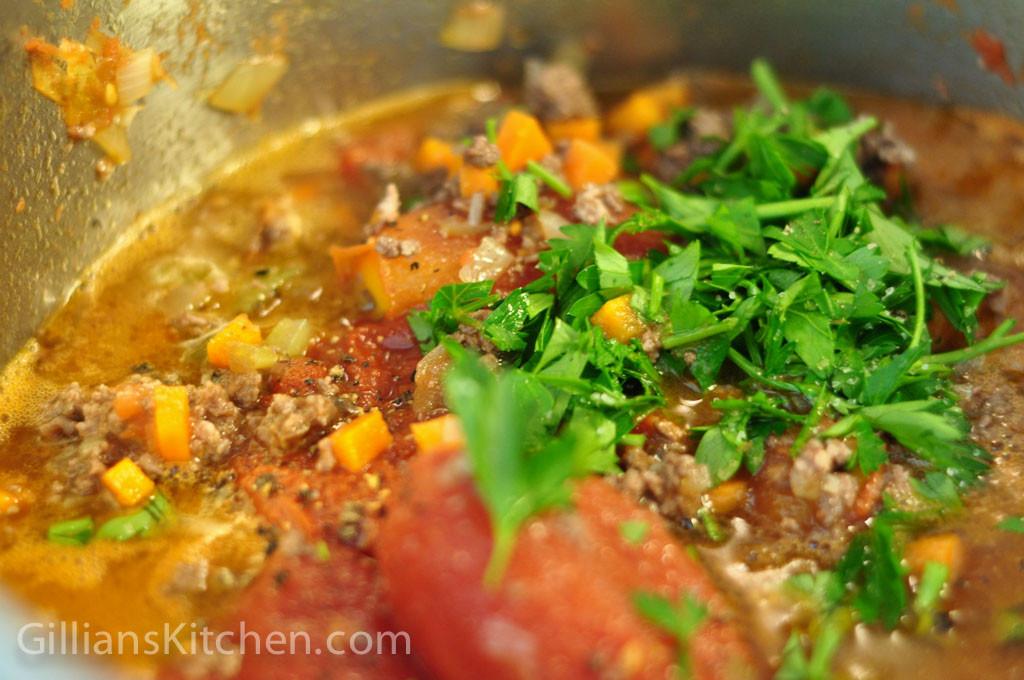 bolognese sauce - seasoned