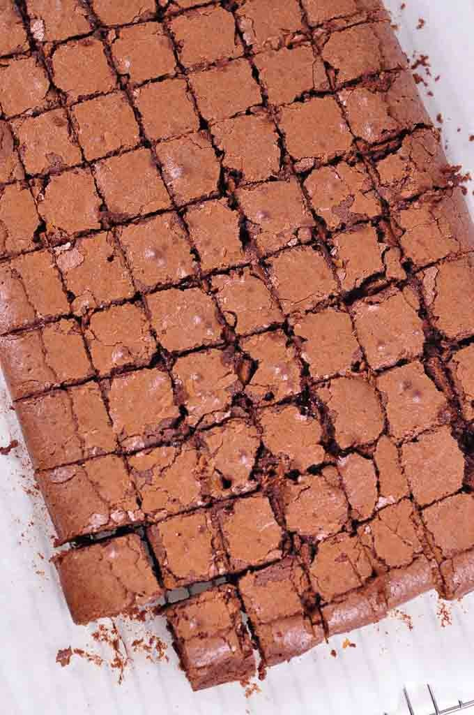 Nigella Chocolate Brownies from above