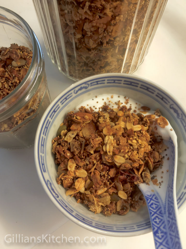 Nuts about granola with plain yoghurt