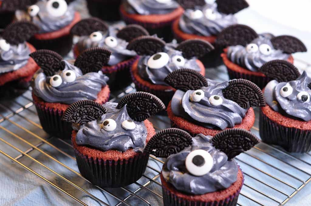 cute bat cakes on wire rack 2