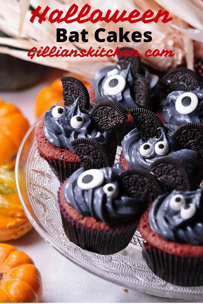 cute bat cakes pin