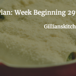 Weekly Meal Plan: Week Beginning 29th Feb