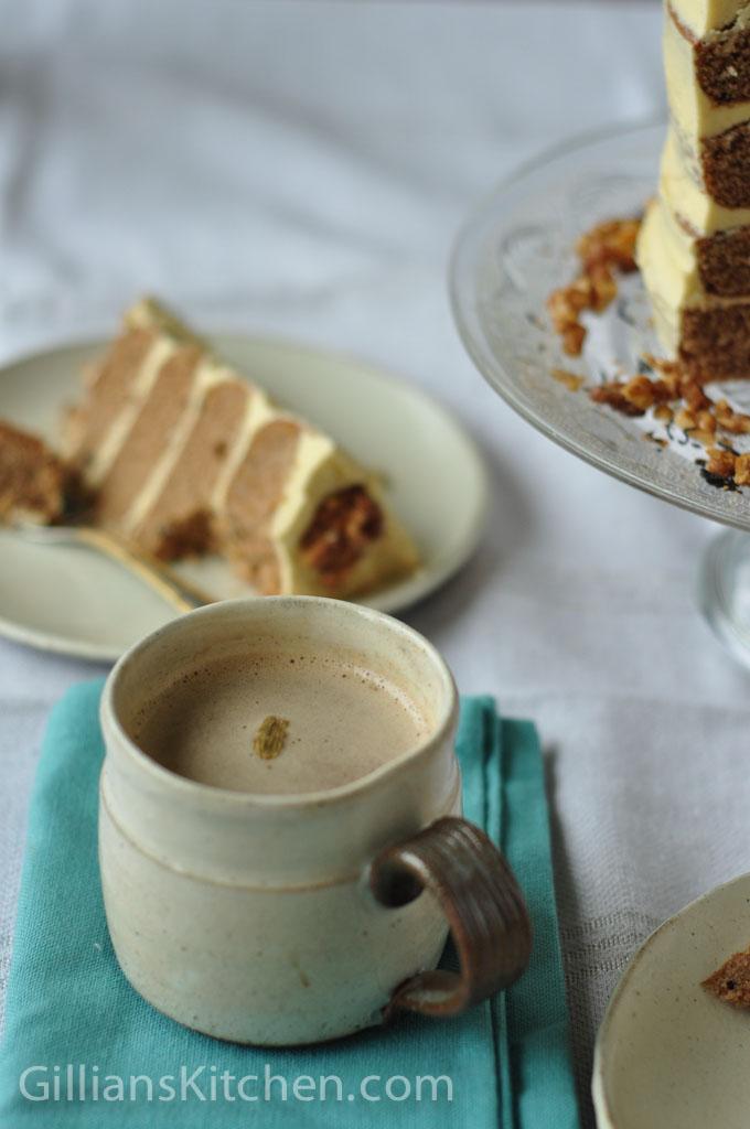 masala cha and cake
