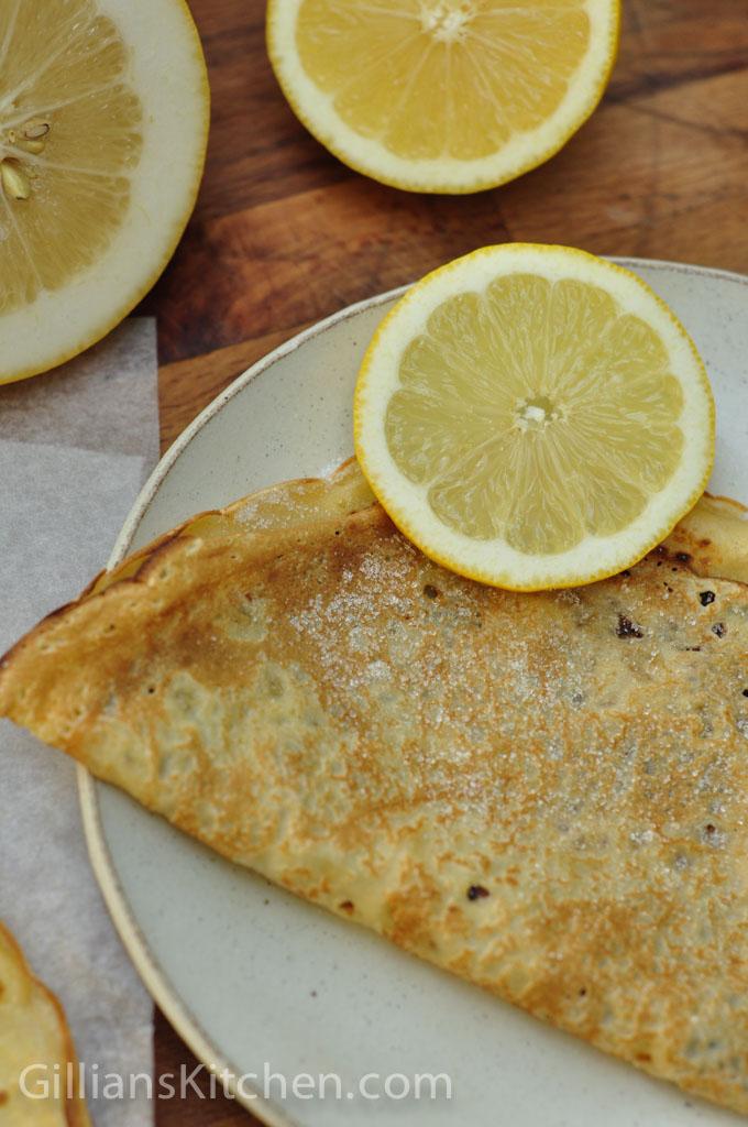 lemon & sugar pancakes