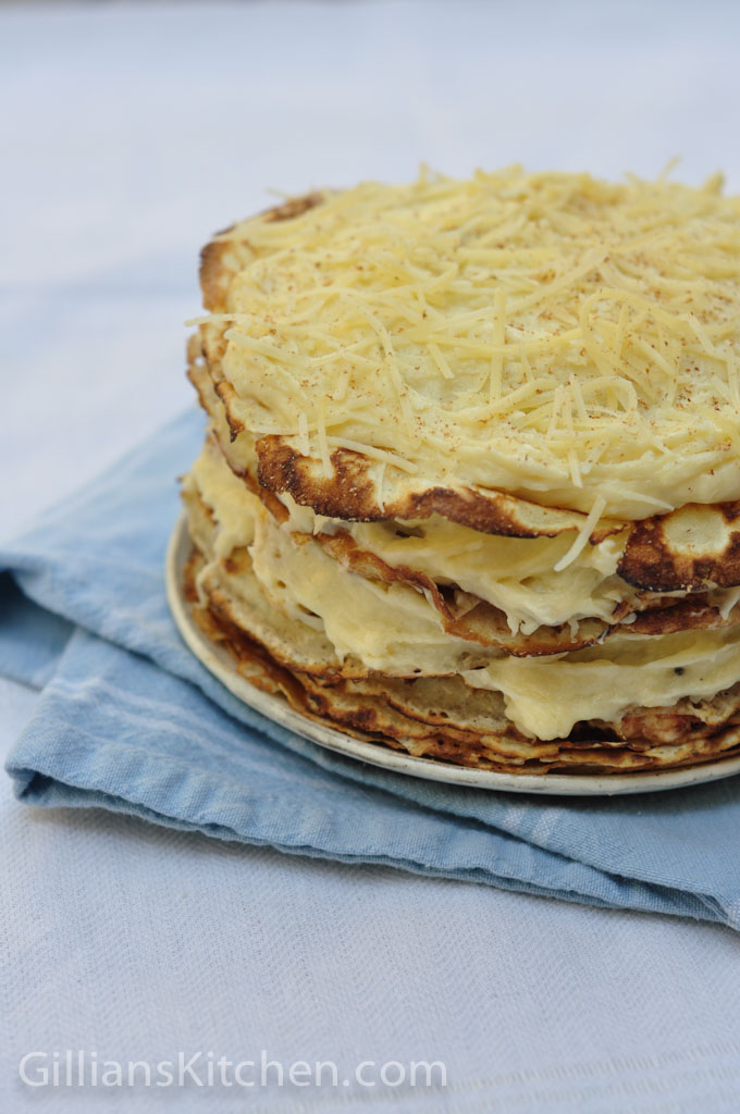 savoury pancake stack  easy family meals