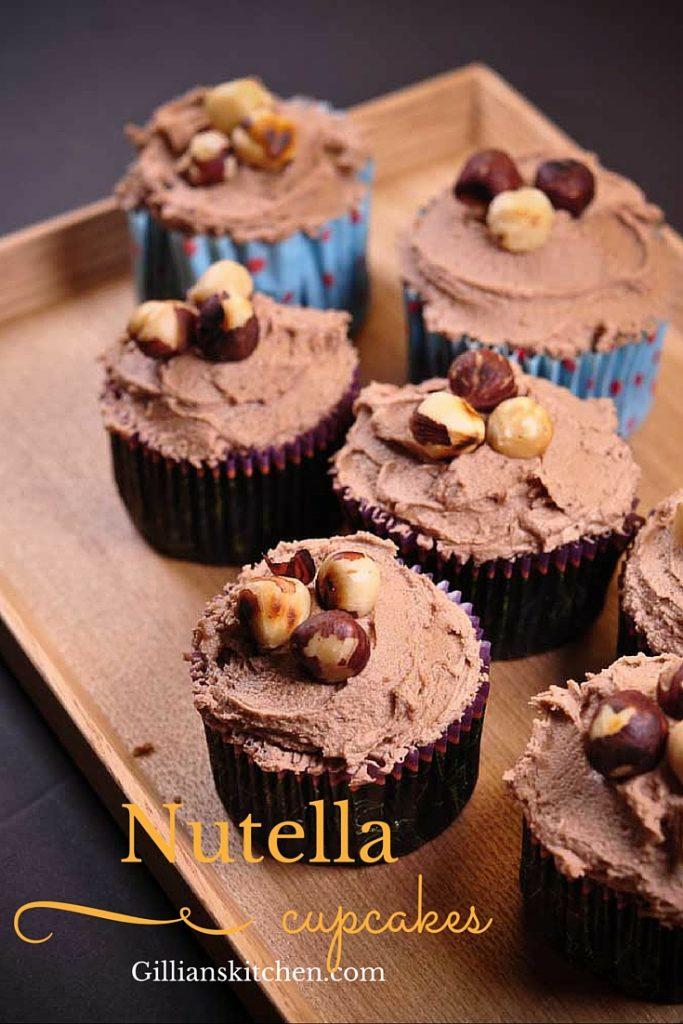 Chocolate Hazelnut Cupcakes pin