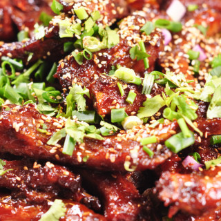 Chinese Spare Ribs in Hoi Sin Sauce cooked 2
