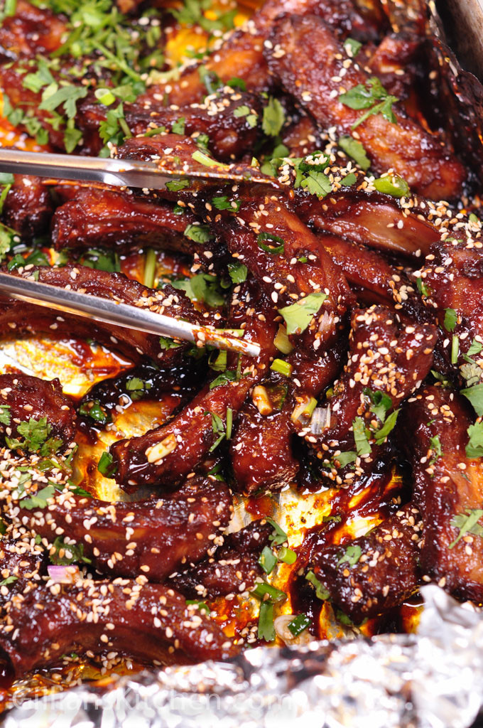 Chinese Spare Ribs in Hoi Sin Sauce cooked - weekly meal plan