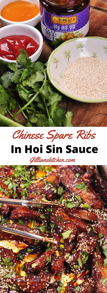 Chinese spare ribs in Hoi sin sauce_long Pin