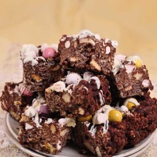 Chocolate Rice Crispy Fridge Cake