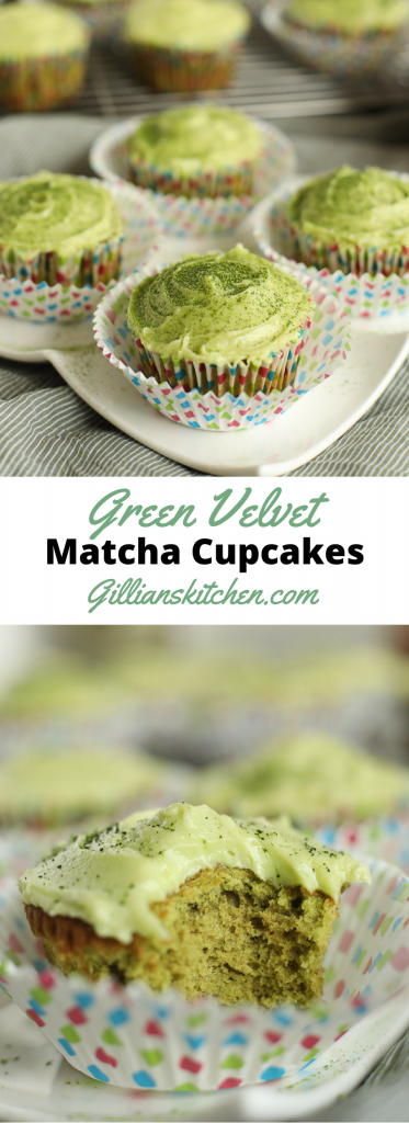 Green Velvet Matcha Cupcakes Long
