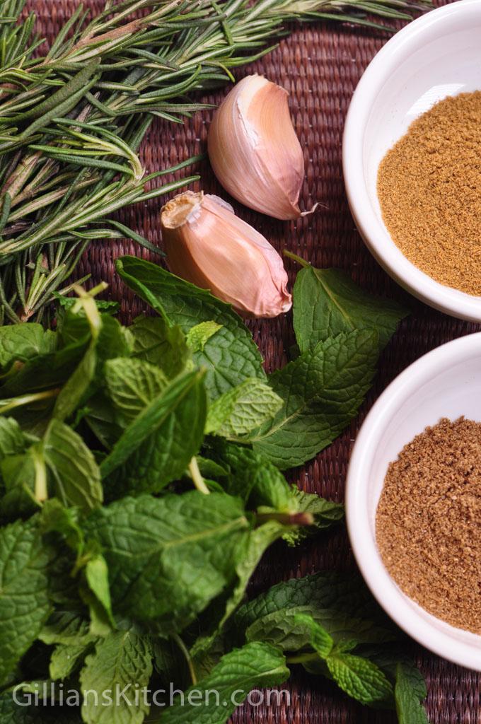Lamb and rosemary koftas ingredients