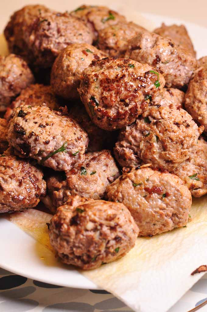 Meatballs in Tomato Sauce browned