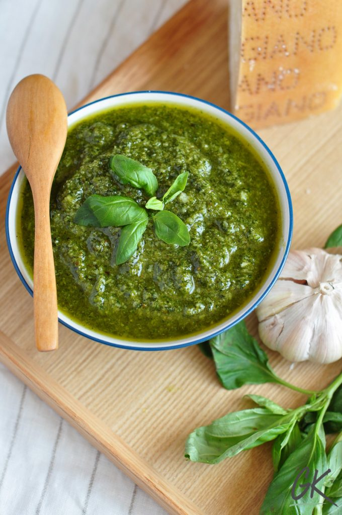 pesto sauce from above