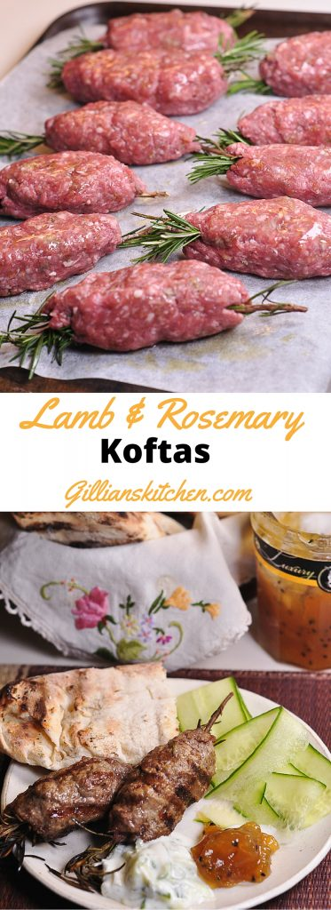 lamb and rosemary lamb koftas