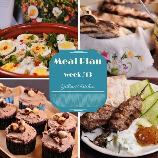 Weekly Meal Plan Week 13