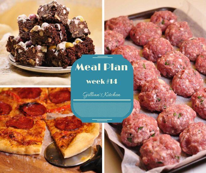 weekly meal plan week 14