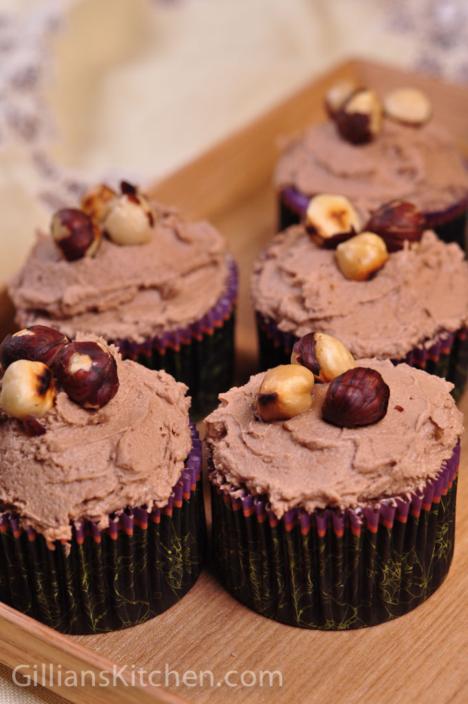 Chocolate hazelnut cupcakes 2