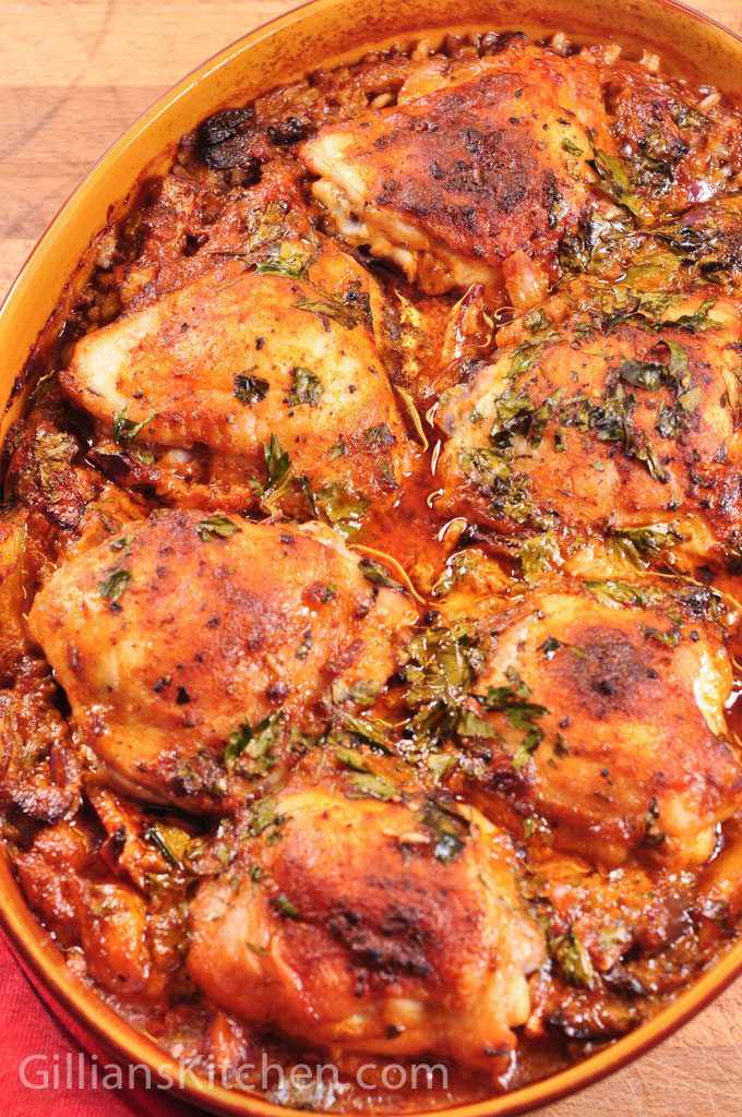 Red Pesto Chicken and rice one pot cooked 2