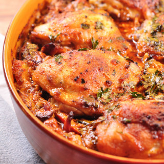 Red Pesto Chicken & rice one pot cooked