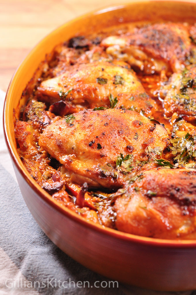 Red Pesto Chicken and rice one pot cooked