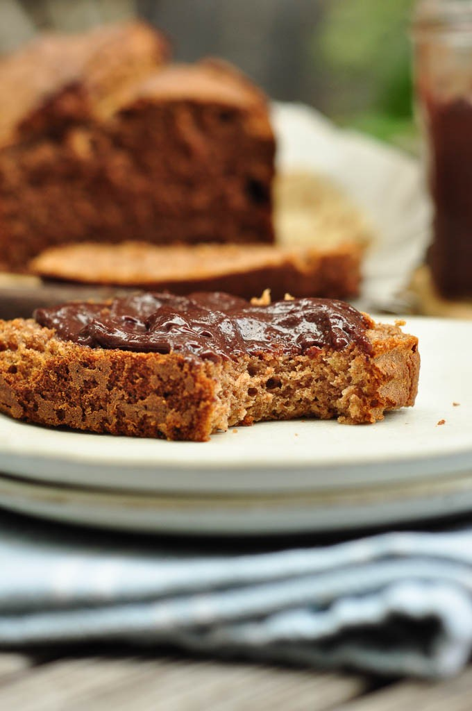 Earl Grey Banana Bread with nut butter
