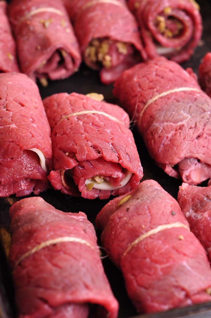 beef olives rolled in pan