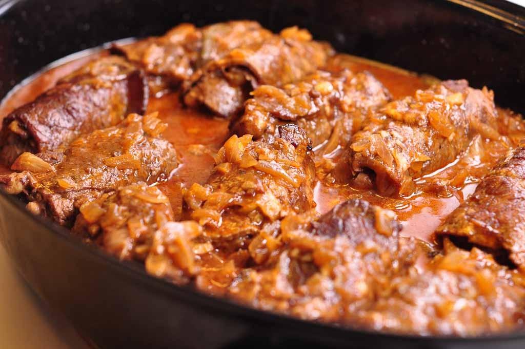 beef olives cooked landscape