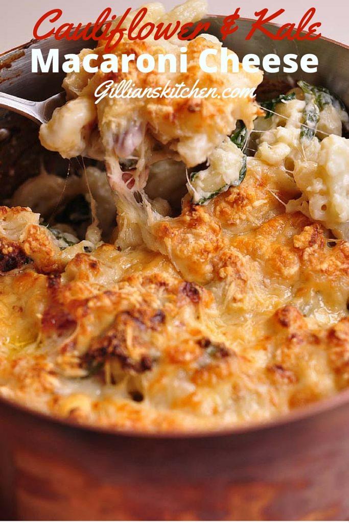 Cauliflower and Kale Macaroni Cheese pin