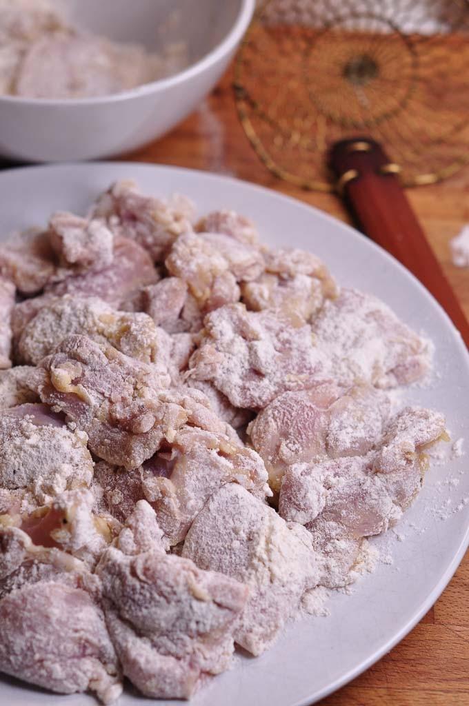 Italian Fried Chicken chicken floured