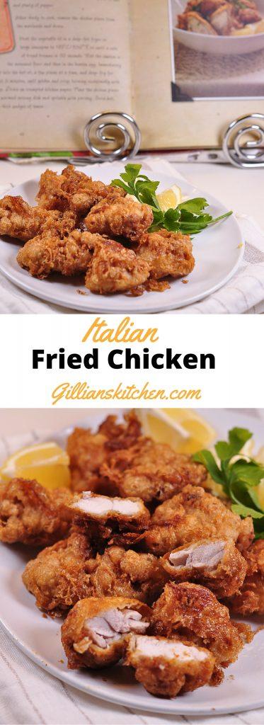 Italian Fried chicken long pin