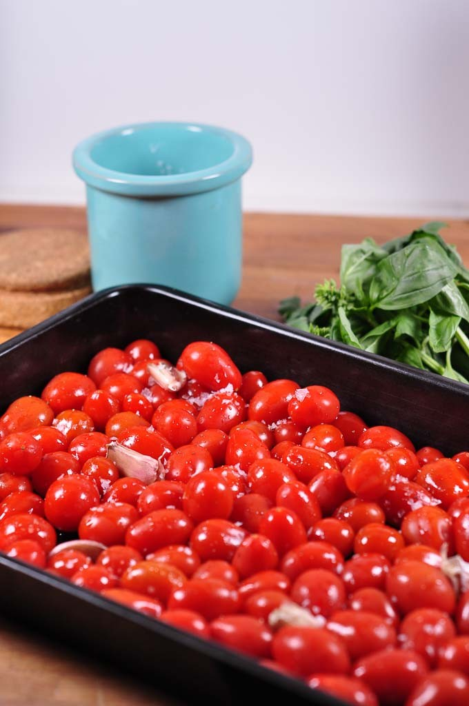 Roasted Tomato Sauce ingredients uncooked