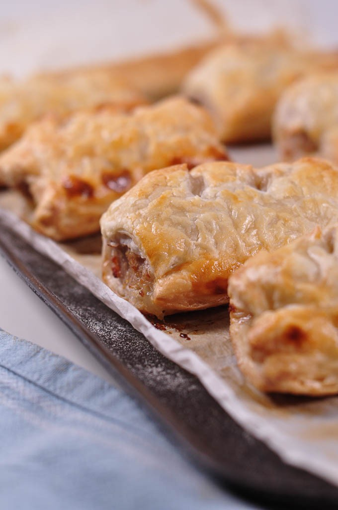quick sausage rolls cooked _ weekly meal plan