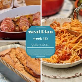 Weekly Meal Plan (Week 15)
