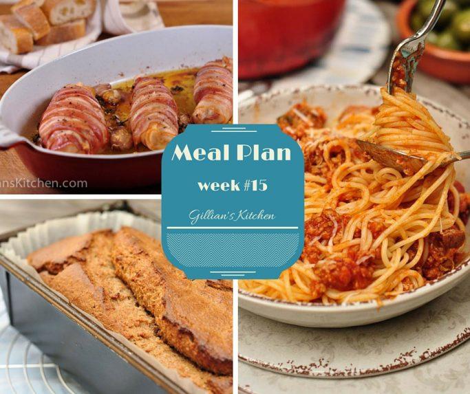 Weekly Meal Plan Week #15