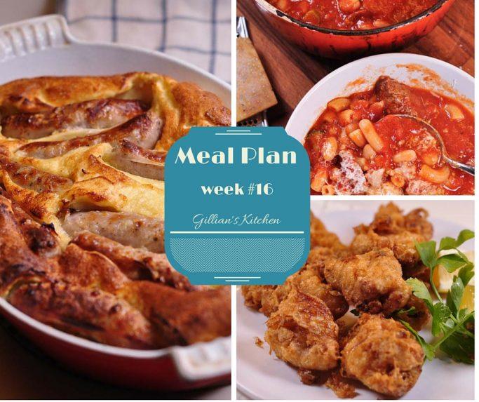 Weekly Meal Plan week 16