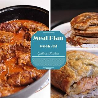 Weekly Meal Plan (Week 17)