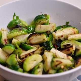 griddled brussel sprouts landscape