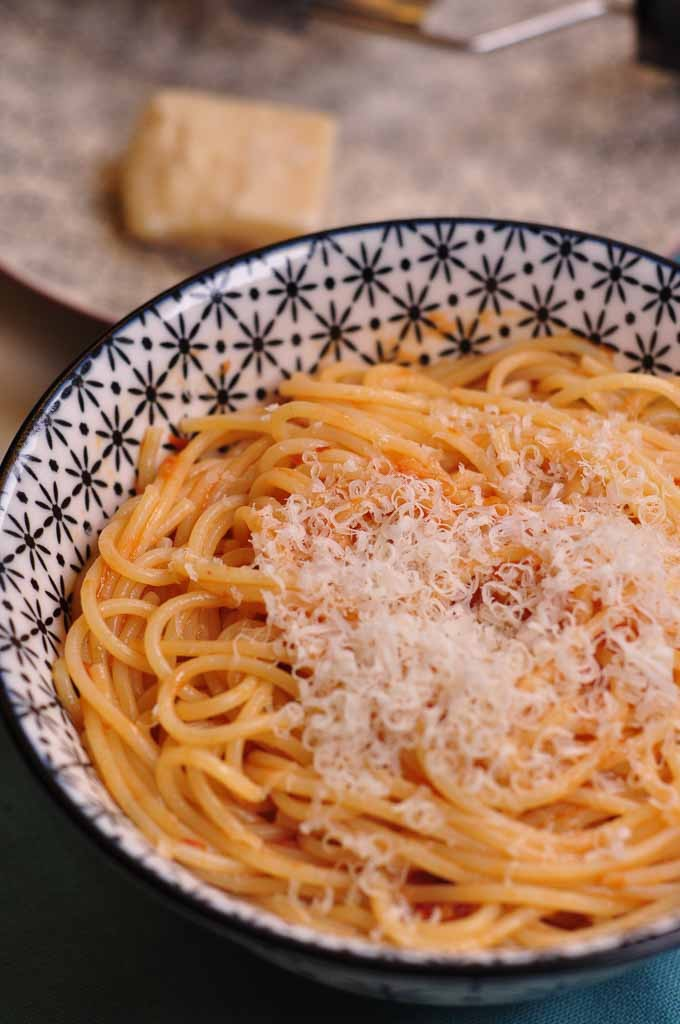 spaghetti with Roasted Tomato Sauce portrait