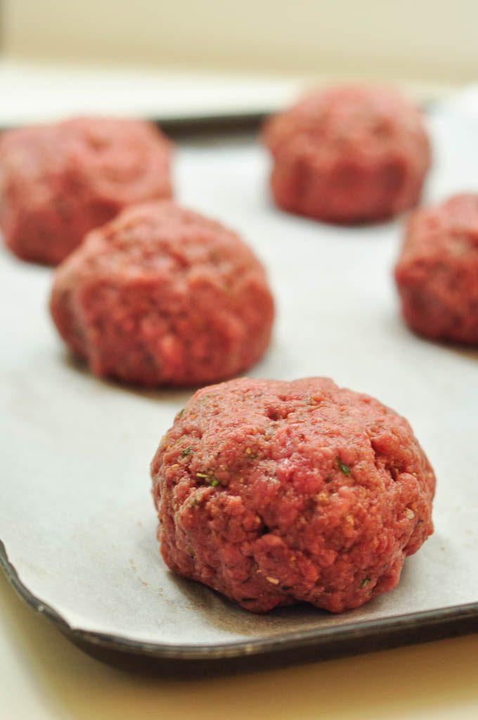 homemade burger balls