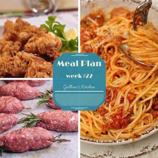 Weekly Meal Plan (Week 22)