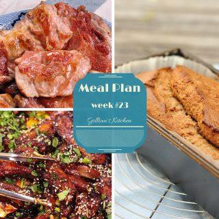 Weekly Meal Plan Week #23