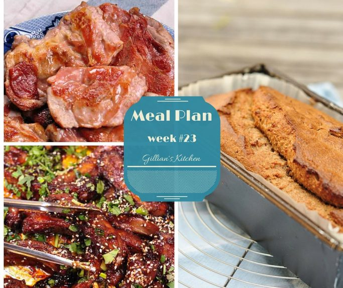 Weekly Meal Plan Week #23