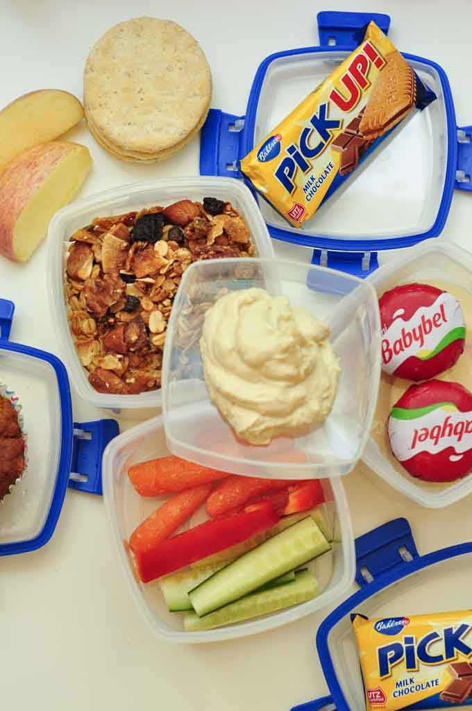 no sandwich packed lunch ideas snacks