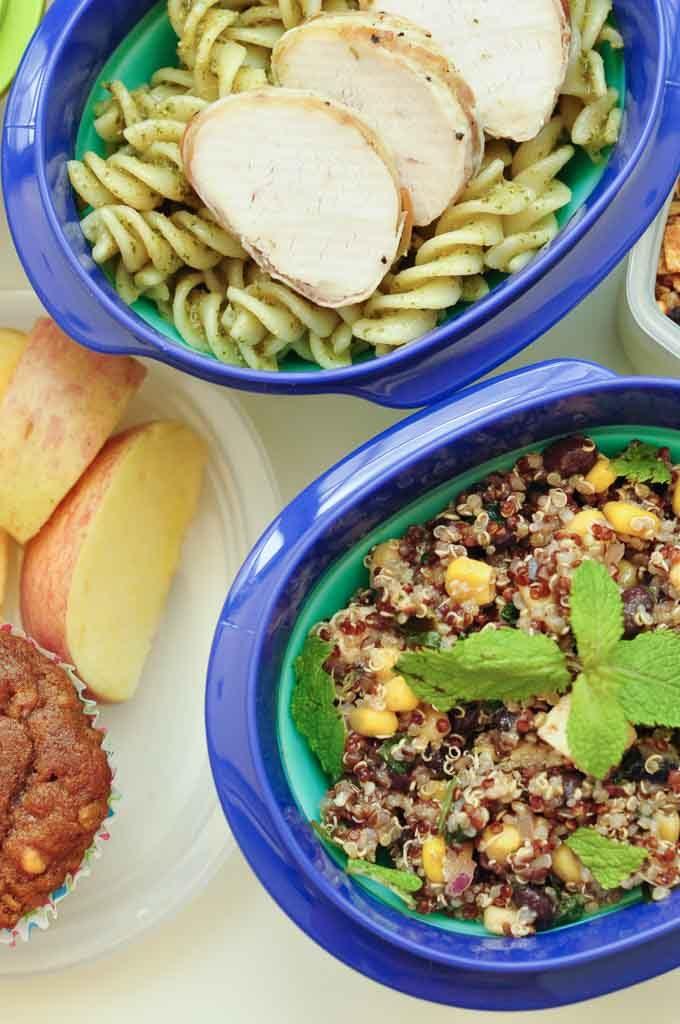 no sandwich packed lunch ideas chicken pesto pasta