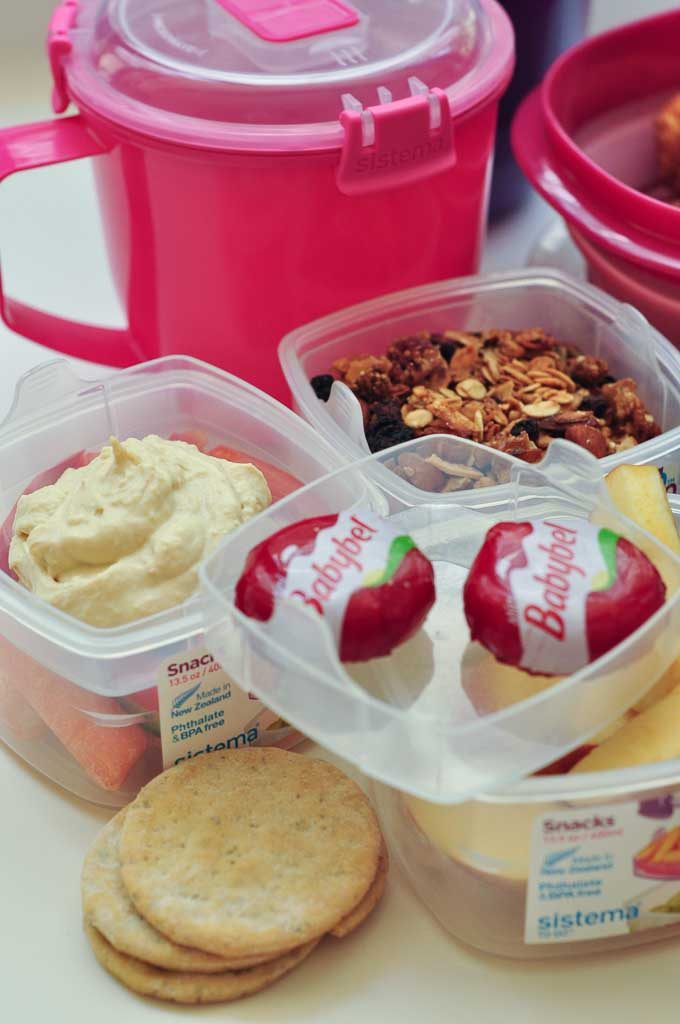 No sandwich packed lunch ideas containers
