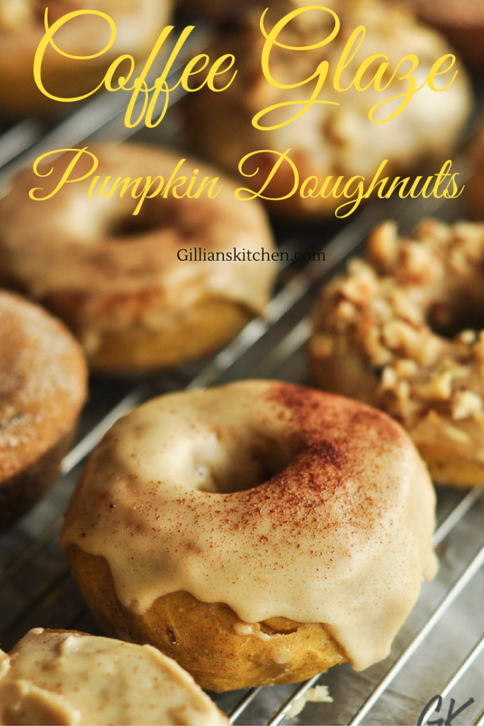 coffee glaze pumpkin doughnuts pin