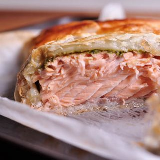 pesto salmon en croute cut open feature